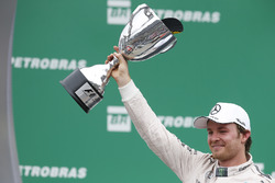 Podium: race winner Nico Rosberg, Mercedes