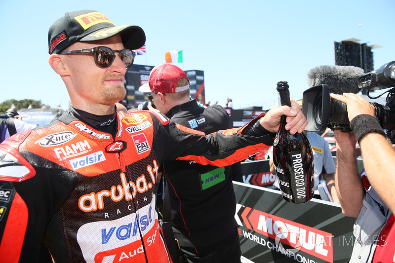 Chaz Davies, Aruba.it Racing-Ducati SBK Team celebration