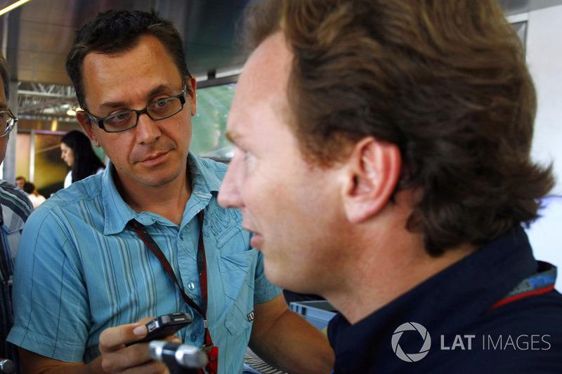 Jonathan Noble interviewe Christian Horner, Team Principal, Red Bull Racing