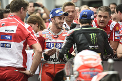 Race winner Andrea Dovizioso, Ducati Team, third place Johann Zarco, Monster Yamaha Tech 3