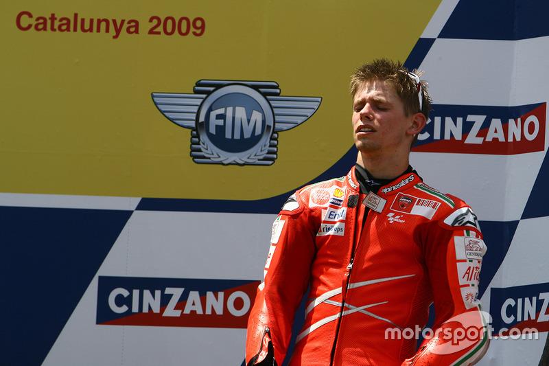 Podium: third place Casey Stoner, Ducati Team