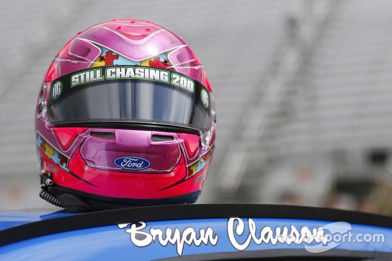 Il nome di Bryan Clauson sull'auto di Ricky Stenhouse Jr., Roush Fenway Racing Ford