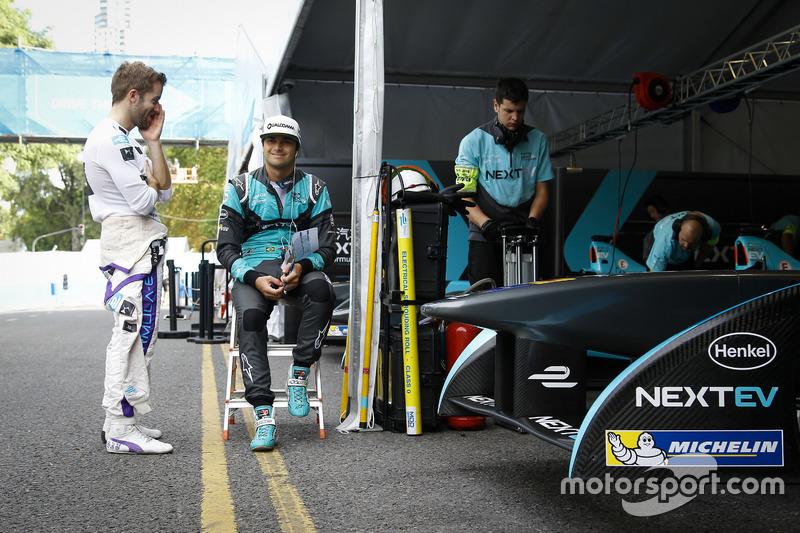 Sam Bird, DS Virgin Racing Formula E Team y Nelson Piquet Jr., NEXTEV TCR Formula E Team