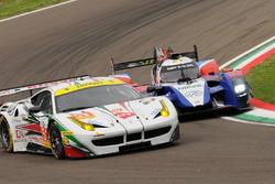 #51 AF Corse Ferrari F458 Italia: Rui Aguas, Marco Cioci, Piergiuseppe Perazzini and #32 SMP Racing BR 01 Nissan: Stefano Coletti, Julian Leal, Andreas Wirth