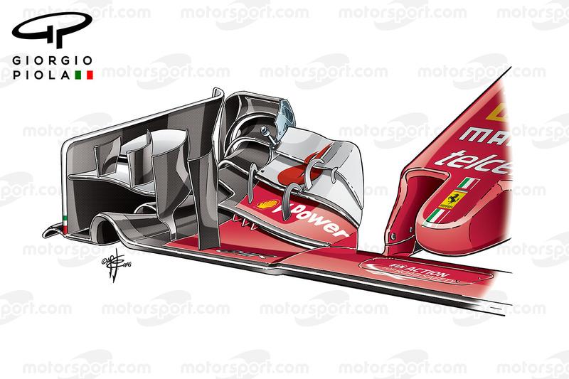 Ferrari SF16-H, ala anteriore, GP d'Italia