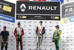 Podium: race winner Will Palmer, R-ace GP; second place Hugo De Sadeleer, Tech 1 Racing; third place Alexander James Peroni, A.S.D. TS Corse