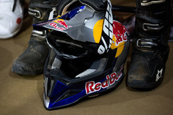 Casco de CS Santosh, Hero MotoSports Team Rally