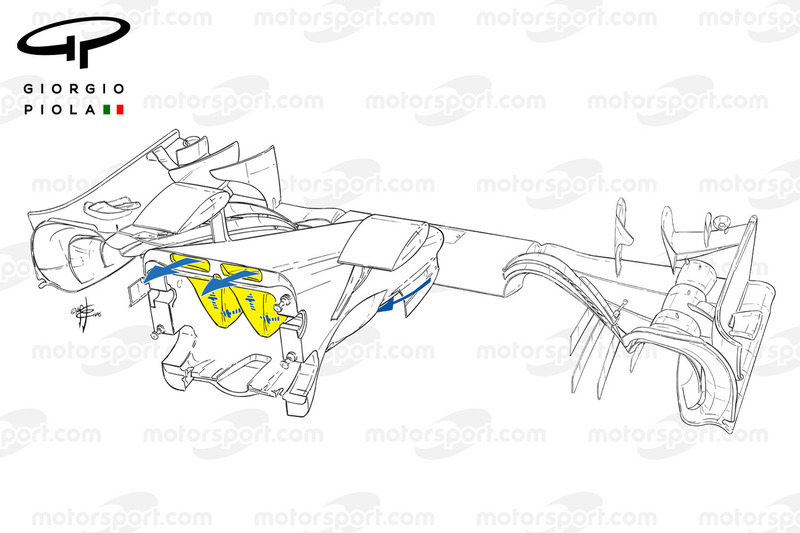 Mercedes W07 nose, outline