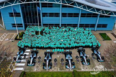 Mercedes 6th title celebration