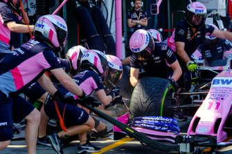 Racing Point pitstop detail