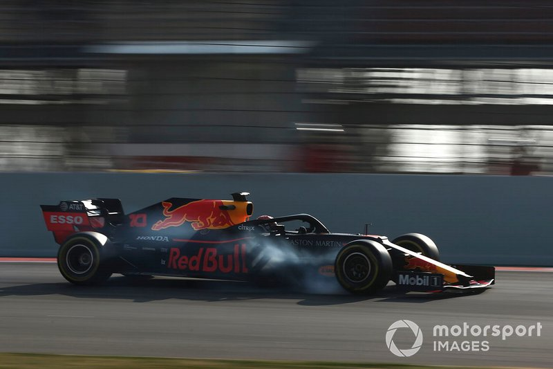 Pierre Gasly, Red Bull Racing RB15 bloquea