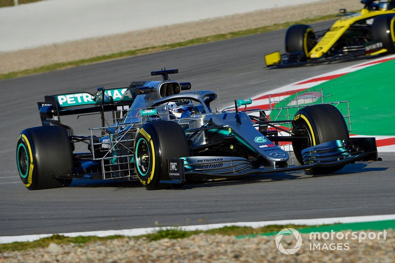 Valtteri Bottas, Mercedes-AMG F1 W10 EQ Power+ with aero sensors