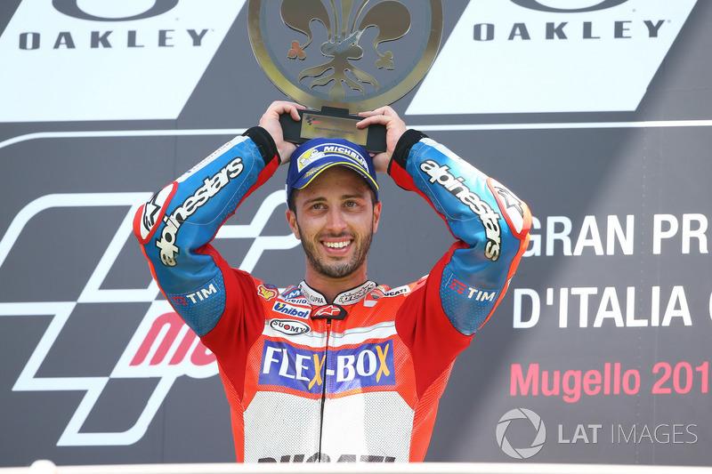 3. Andrea Dovizioso meraih kemenangan di Mugello