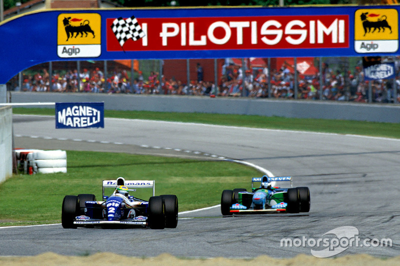 Айртон Сенна, Williams FW16, и Михаэль Шумахер, Benetton B194