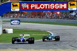 Айртон Сенна, Williams FW16, и Михаэль Шумахер, Benetton B194