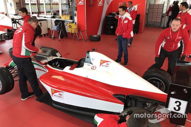 El F4 de David Vidales en la Ferrari Driver Academy