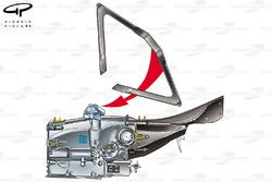 Renault R24 upper wishbone gearbox mount