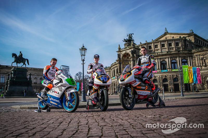 Jakub Kornfeil, Peugeot MC Saxoprint; Patrik Pulkkinen, Peugeot MC Saxoprint; Freddie Heinrich, Peug