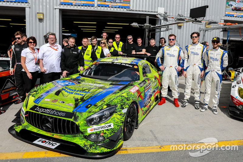 Team photo #16 SPS automotive performance Mercedes AMG GT3: Valentin Pierburg, Tim Müller, Lance-Dav