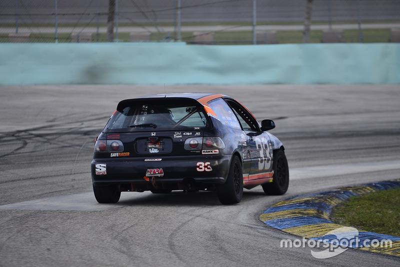 #33 MP4A Honda Civic driven by Felipe Jaramillo of Honda 33 Racing