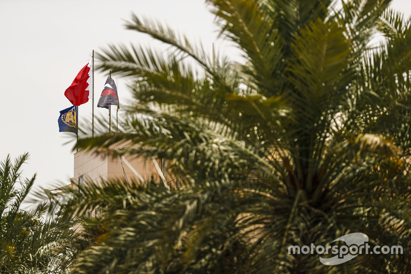 The Bahrain and F1 flags