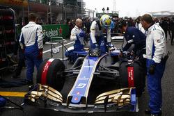 Marcus Ericsson, Sauber, en la parrilla