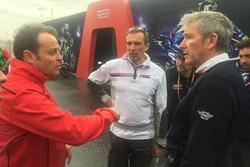 Emilio Alzamora, Livio Suppo, Mike Webb discuss track conditions