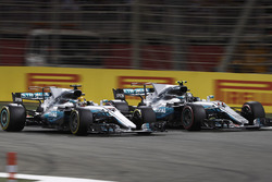 Lewis Hamilton, Mercedes AMG F1 W08, batalla con Valtteri Bottas, Mercedes AMG F1 W08