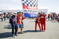 Fans of Max Verstappen, Red Bull, Sebastian Vettel, Ferrari