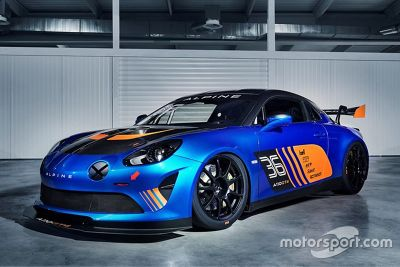 Alpine A110 GT4 onthulling