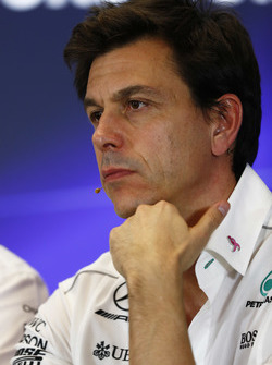 Toto Wolff, Executive Director Mercedes AMG F1, in the Team Principals Press Conference