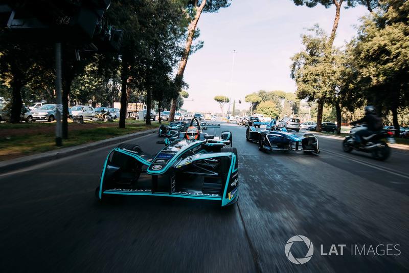 Nelson Piquet Jr., Jaguar Racing, Sébastien Buemi, Renault e.Dams y Luca Filippi, NIO Formula E Team