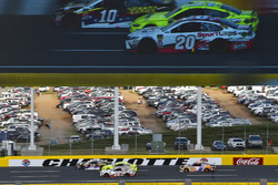 Erik Jones, Joe Gibbs Racing, Toyota Camry Sport Clips and Chase Elliott, Hendrick Motorsports, Chevrolet Camaro SunEnergy1