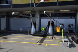 Mercedes AMG F1 garage and screens