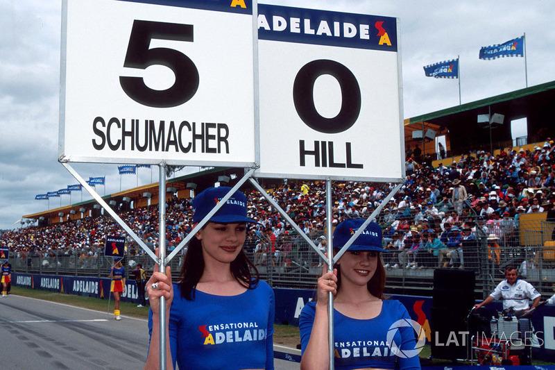 Грід-гьолз Міхаеля Шумахера (Benetton) і Деймона Хілла (Williams)