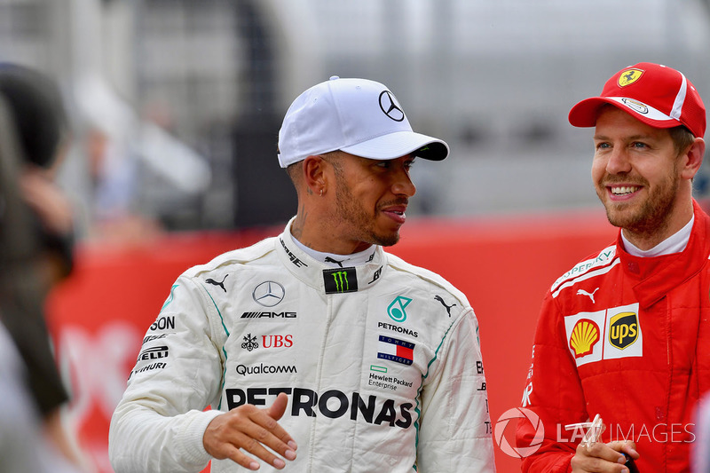 Lewis Hamilton, Mercedes-AMG F1 and Sebastian Vettel, Ferrari
