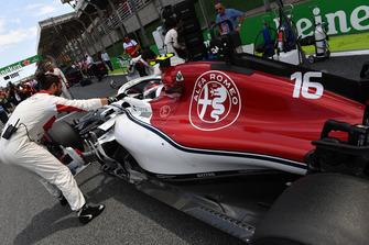 Charles Leclerc, Alfa Romeo Sauber C37 on the grid