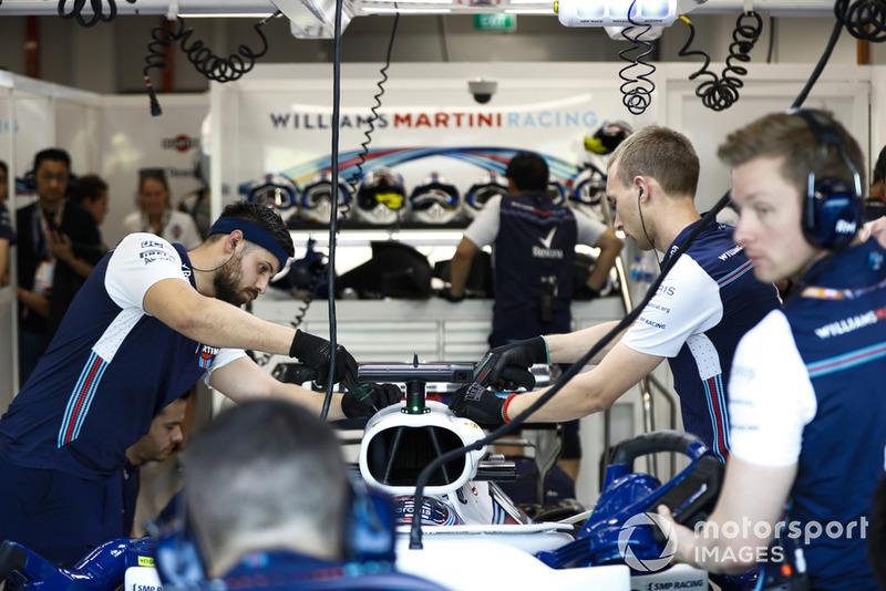 Mekanik Lance Stroll, Williams FW41