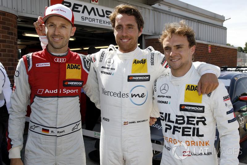 Top 3 tras Q1: Pole position para Daniel Juncadella, Mercedes-AMG Team HWA, René Rast, Audi Sport Team Rosberg, Lucas Auer, Mercedes-AMG Team HWA