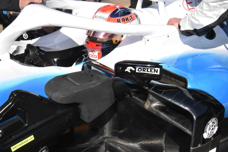 robert Kubica, Williams FW42, sidepod