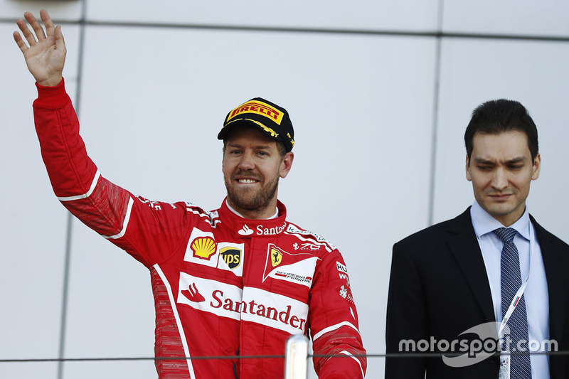 Second place Sebastian Vettel, Ferrari