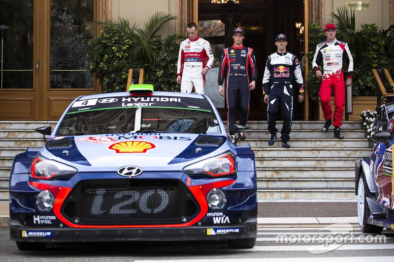 Kris Meeke, Citroën World Rally Team, Thierry Neuville, Hyundai Motorsport, Sébastien Ogier, M-Sport, Jari-Matti Latvala, Toyota Racing