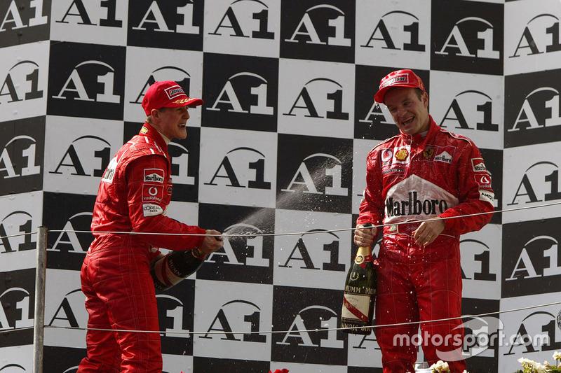1. Michael Schumacher, Ferrari; 2. Rubens Barrichello, Ferrari