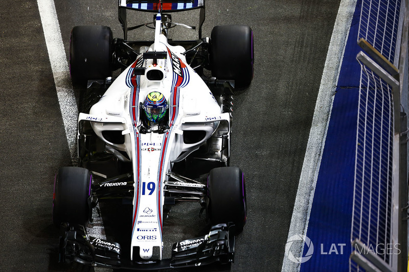 Felipe Massa sempre esteve atrás do pelotão e finalizou a corrida em 11º.