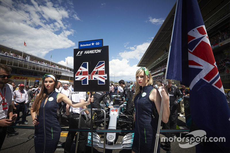 Grid Girls for Lewis Hamilton, Mercedes AMG F1