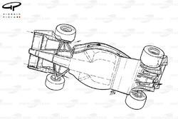 Ferrari F1-91 (642) 1991 года, вид снизу