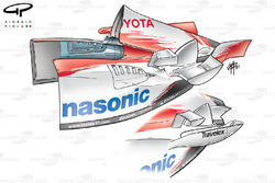 Toyota TF103 sidepod changes (previous specification below)