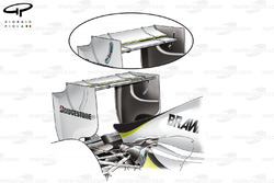 Brawn BGP 001 2009 Monza rear wing comparison
