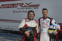 Макс Пухер, Александр Вурц перед тестами World RX Team Austria Ford Fiesta