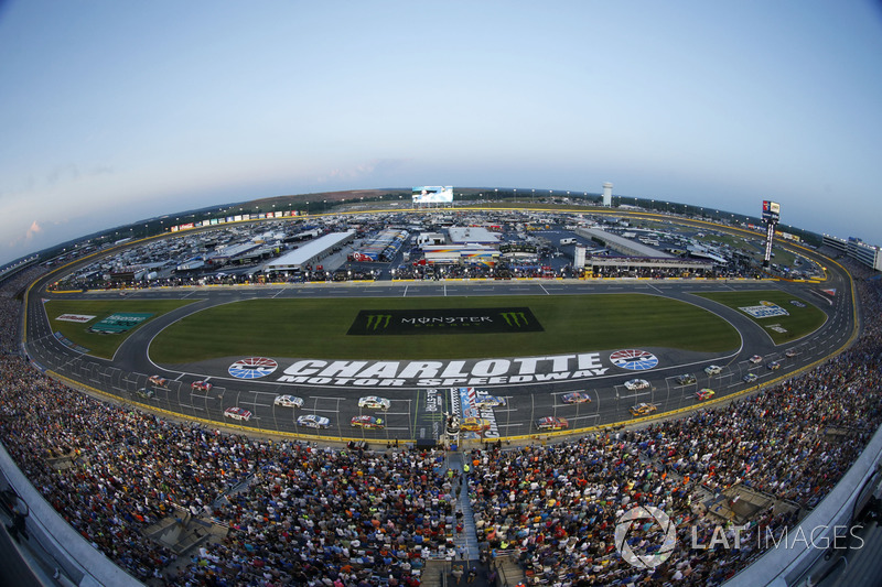 charlotte motor speedway at charlotte all star race